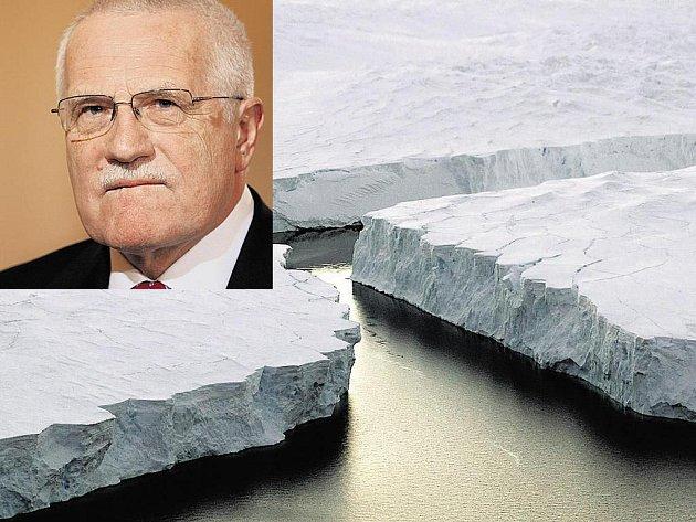 Václav Klaus před globálním oteplováním vybízí ke klidu.
