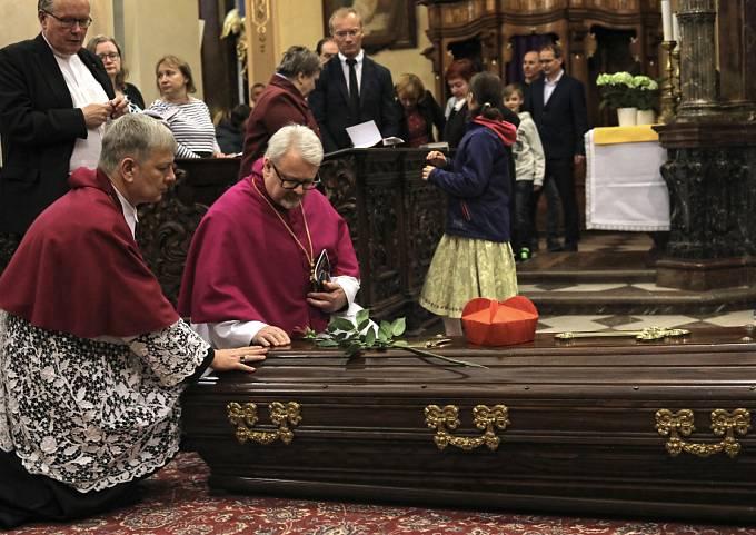 Příjezd ostatků kardinála Berana do Prahy