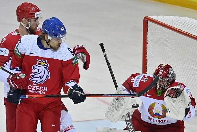V třetím utkání skupiny hráli čeští hokejisté s Běloruskem.