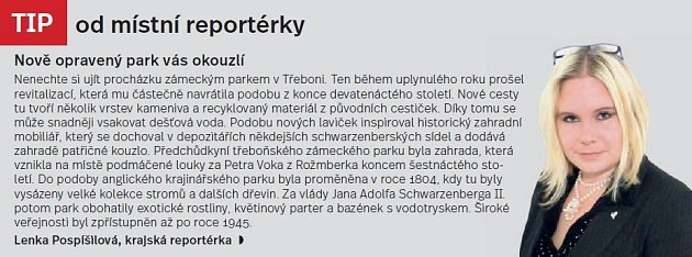 Třeboňsko, tip reportérky