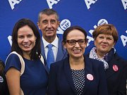 Setkání k zahájení senátní a komunální kampaně hnutí ANO za účasti předsedy hnutí Andreje Babiše a pražských kandidátů do zastupitelstva a Senátu proběhlo 1. září v Praze.