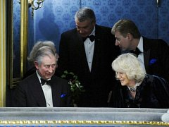 Britský následník trůnu princ Charles s chotí Camillou navštívil 21. března večer představení Don Giovanni ve Stavovském divadle v Praze.