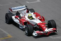 Ralf Schumacher ještě v monopostu Toyota.