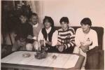 Rodina Kathariny v roce 1994 (ona vpravo)