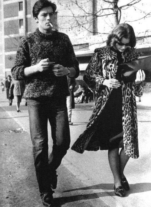 Romy Schneider s Alainem Delonem
