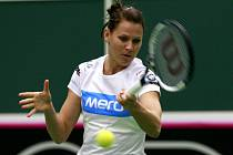 Lucie Šafářová se připravuje na Fed Cup.