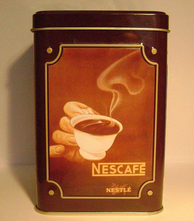 Plechovka s kávou Nescafé