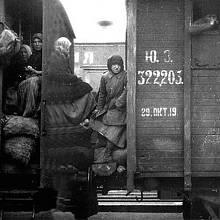 Transport vězňů na ostrov Nazinskij