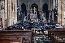 Následky požáru v pařížské katedrále Notre-Dame