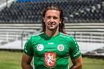 Gólman FC Hradec Králové Radim Ottmar cvičí