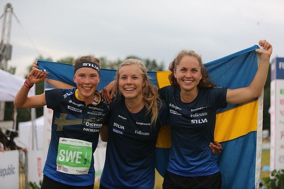MS v orientačním běhu: Štafety v Heřmánkách a radost švédských reprezentantek