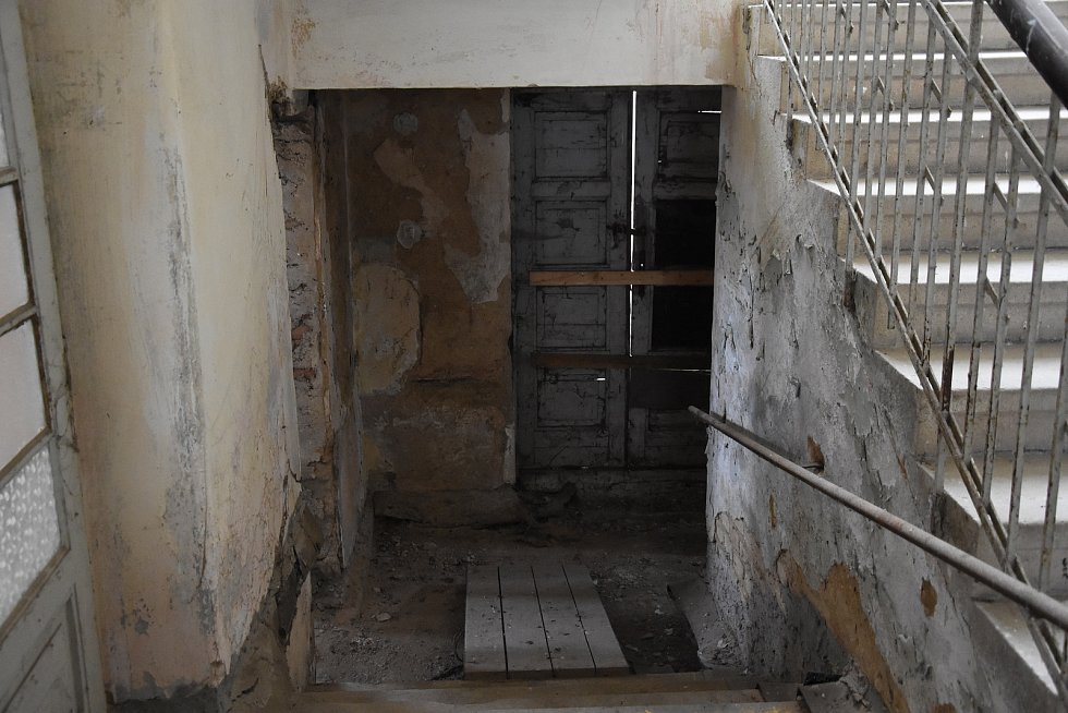 Uvnitř Škroupova domu.