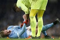 Zraněný Kevin De Bruyne z Manchesteru City.