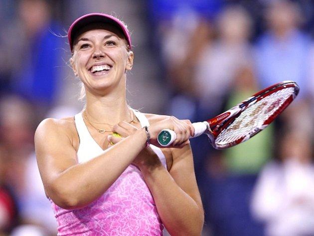 Sabine Lisická se raduje z postupu do semifinále tirnaje v Indian Wells.