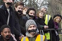 Protest studentů v Londýně proti zvýšení školného a škrtům v rozpočtech vysokých škol.
