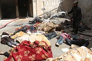 Oběti údajného chemického útoku v Sýrii