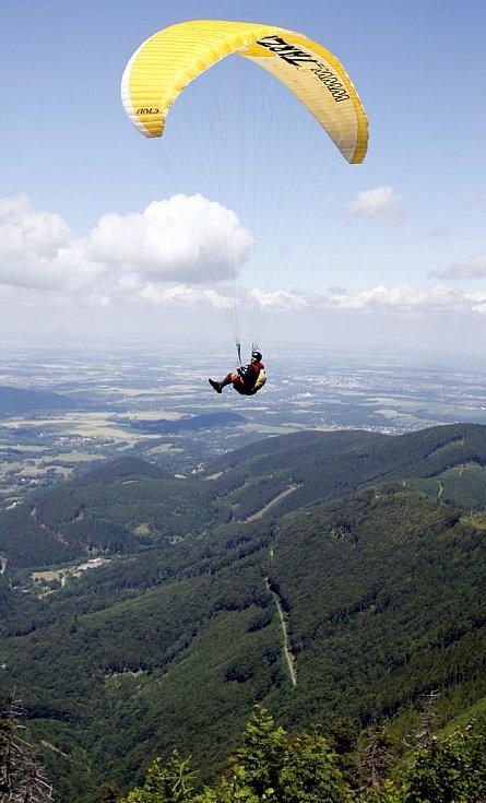 paragliding v Beskydech, let z Prašivé