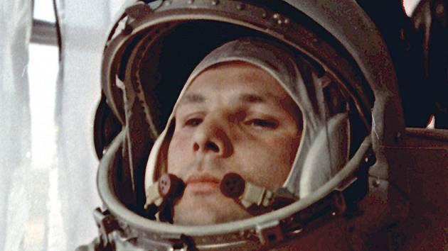 Jurij Gagarin před nástupem do Vostoku v dubnu 1961.