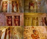 Stěny zdobí nápisy a podobizny.