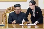 Severokorejský vůdce Kim Čon-un a jeho sestra Kim Jo-čong
