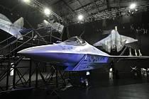 Prototyp nové ruské stíhačky na moskevském aerosalonu MAKS-2021