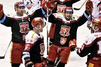 18. kolo hokejové extraligy: Pardubice - Hradec Králové 3:4