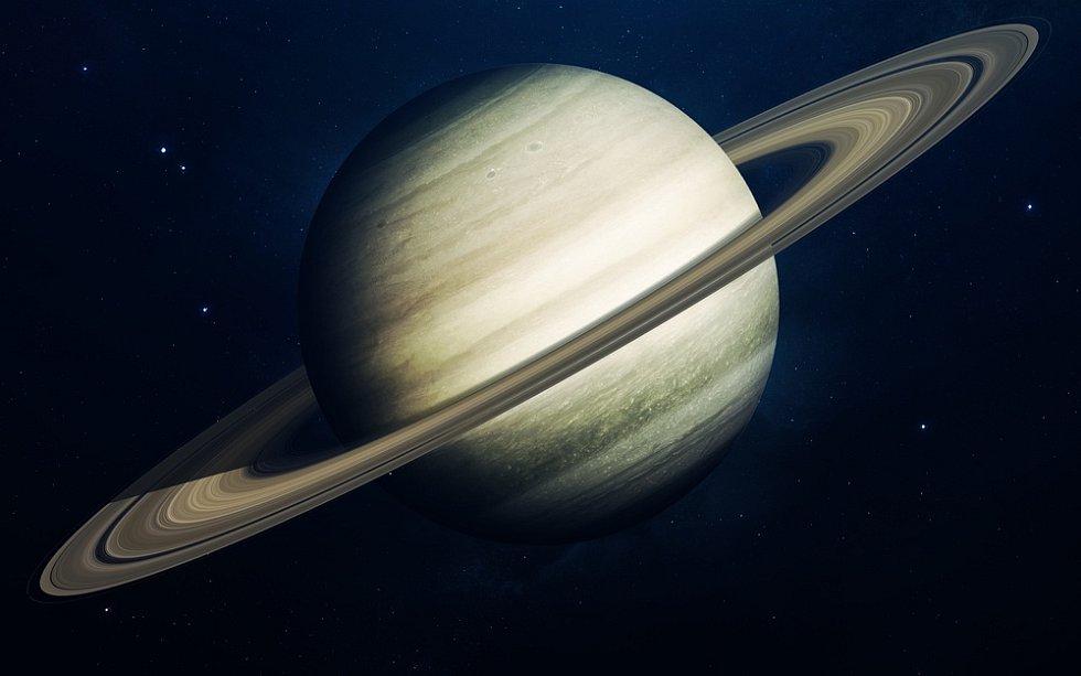 Saturn a jeho prstence