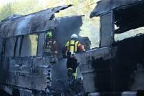 Požár rychlovlaku v Německu
