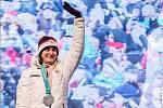 Fanoušci na pražském Staroměstském náměstí přivítali olympijskou medailistku Martinu Sáblíkovou.