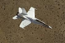 Stíhací letoun F-18 Hornet. Ilustrační foto.