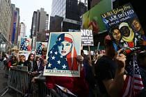 Demonstrace v New Yorku za práva muslimů
