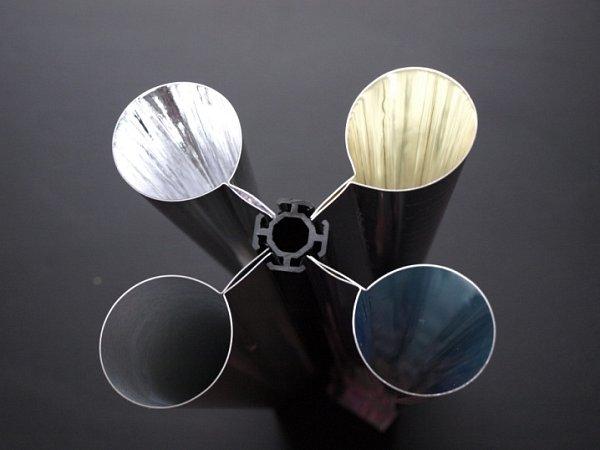 Vzhled barvy světla při užití různých materiálů na jeho výstupu do místnosti