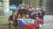 Fanoušci z Hustopečí nad Bečvou ve Wembley.