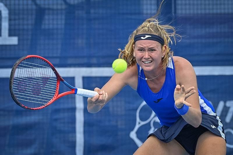 Marie Bouzková na Prague Open 2021.