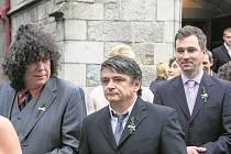 V ČELE. Richard Genzer, Michal Suchánek a Ondřej Sokol.