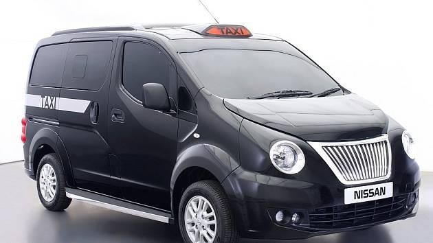 Upravený Nissan NV200 jako taxík pro Londýn.