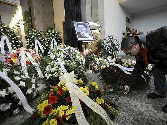 V pražských Strašnicích se konalo poslední rozloučení s Lukášem Přibylem.