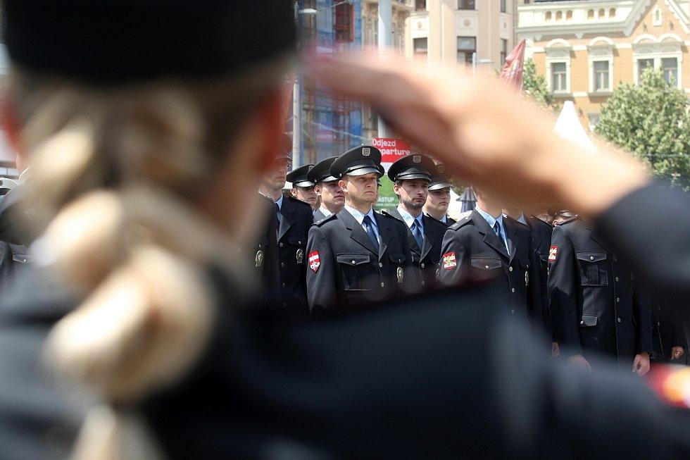 Den Policie ČR na náměstí Svobody v Brně