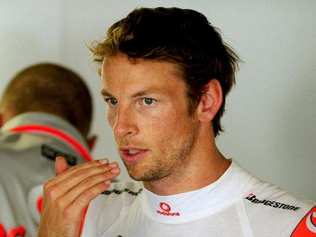 Britský pilot formule 1 Jenson Button.