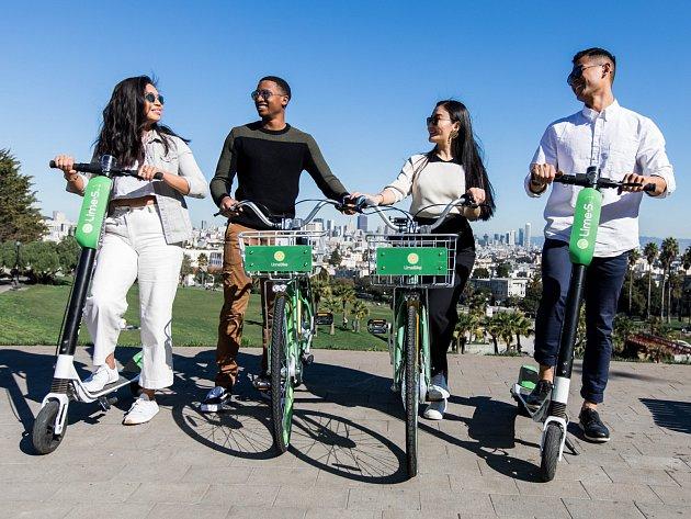 Kalifornský startup Lime začíná nabízet půjčování elektrických koloběžek už i v Evropě.