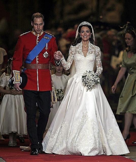 Novomanželé William a Kate.