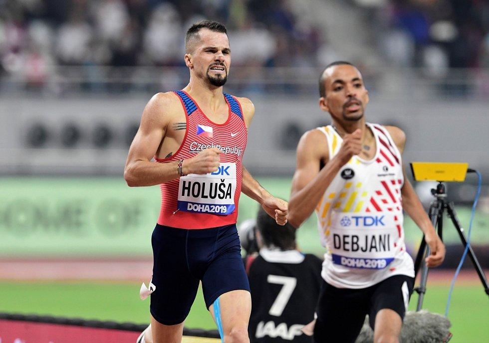 Jakub Holuša v rozběhu na 1500 metrů