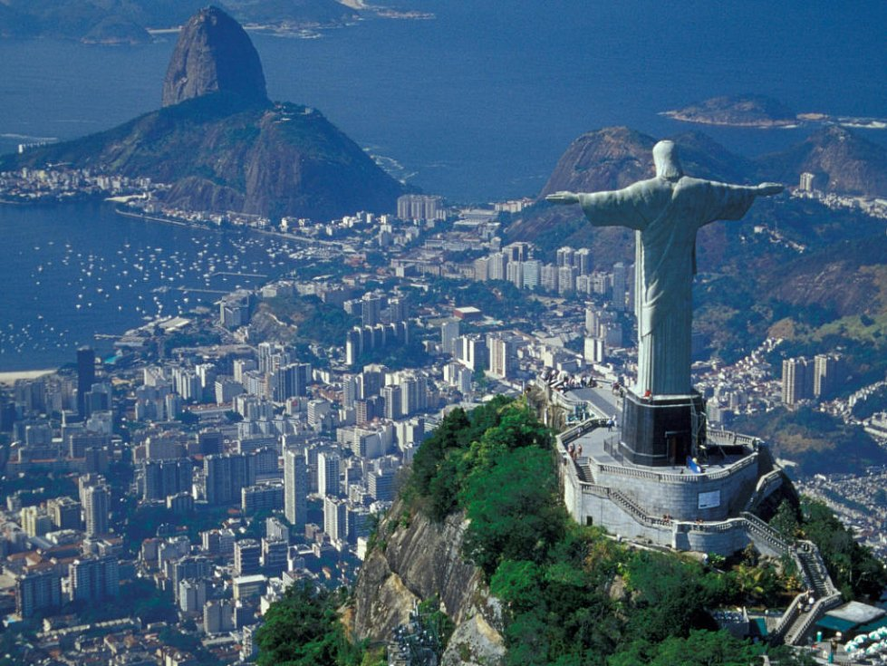 Slavná socha Ježíše Krista v Rio de Janeiru.