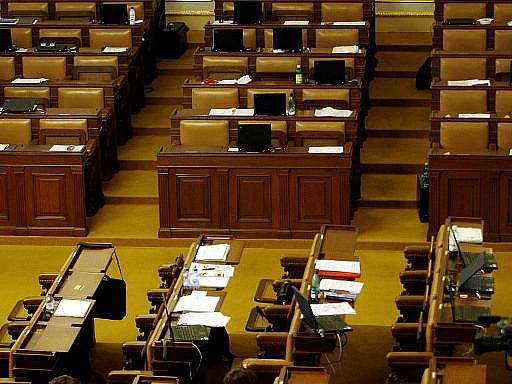 Prázdné lavice v Poslanecké sněmovně, Ilustrační foto