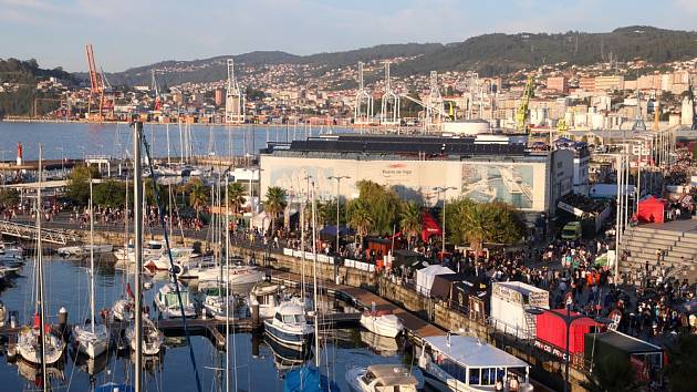 Město Vigo na severozápadě Španělska
