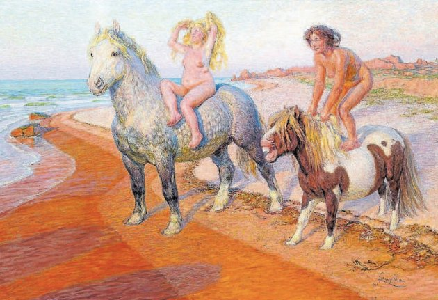 OCHUTNÁVKA. Balada (Radosti života, 1901/02), dole: Ženská pro Galliena (1909).