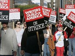 Stávka scénáristů v Los Angeles