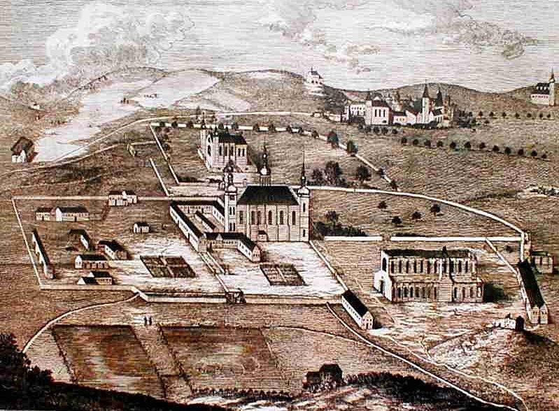 Ruiny Sedleckého kláštera nedaleko Kutné Hory. Klášterní prostory se v roce 1812 změnily v první českou továrnu na tabákové výrobky