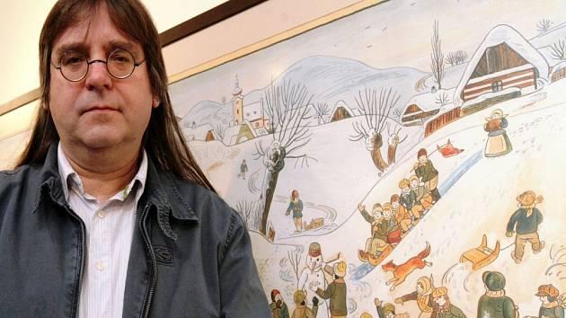 Předvánoční výstava Josef Lada – malíř a spisovatel. Návštěvníci si budou moci prohlédnout Ladovu tvorbu zachycující českou krajinu, zimu, dětské hry, zemědělský rok, lidové zvyky, svátky, či bájné postavy. Na snímku vnuk Josef Lada.