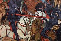 Boj husitů s křižáky, jak byl zachycen v Jenském kodexu